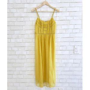 Yellow Sun Dress - Midi Flowy Dress